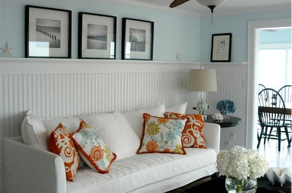 Redesignedinteriors where rooms become retreats page 11 for Blue and orange room