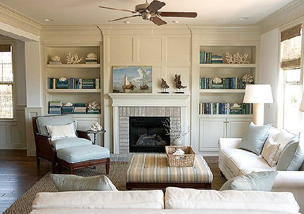 Bookcase designs around fireplace Built in shelves living room